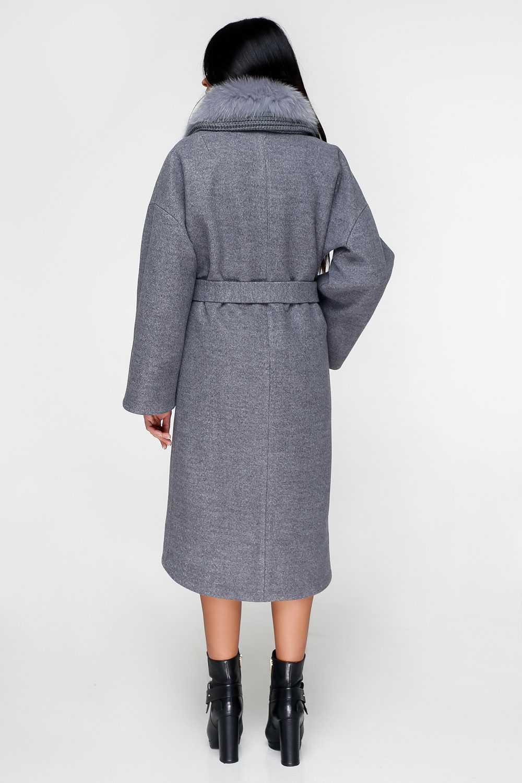 Сіре пальто П-1089 Тон 2 - купити недорого — Donna Bella - F-П-1089-2-44 9c12992fb451e