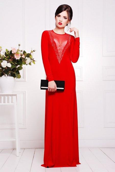 cf1ac9a4708 Красное вечернее женское платье Аркадия купить недорого