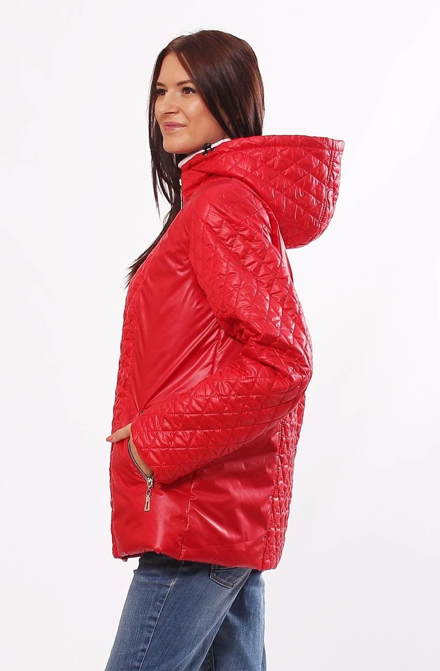 Жіноча червона демісезонна комбінована куртка Murenna - купити ... 86c4942d2481f