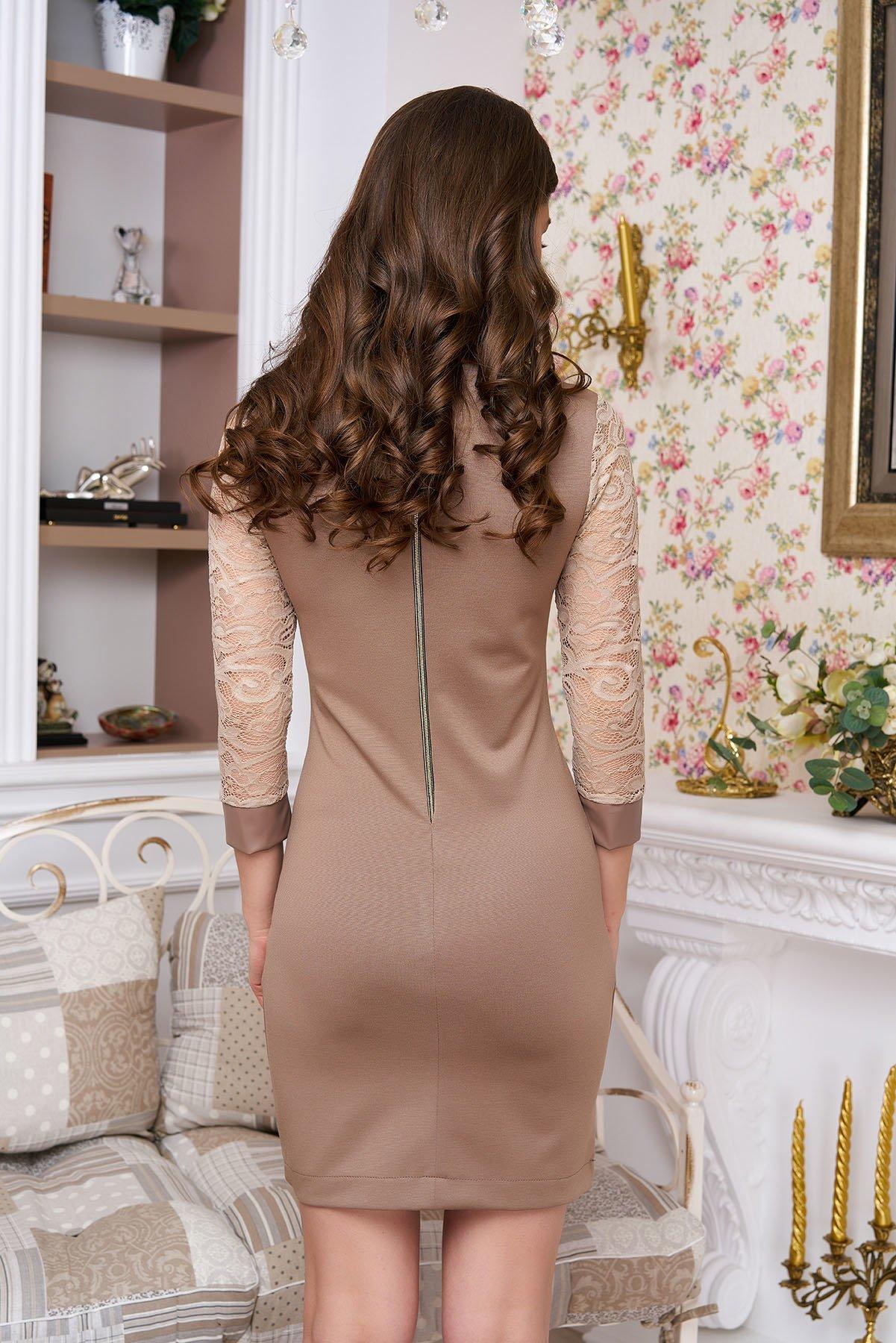07dab73f14a074 Стильне жіноче бежеве плаття Сієнна - купити недорого — Donna Bella ...