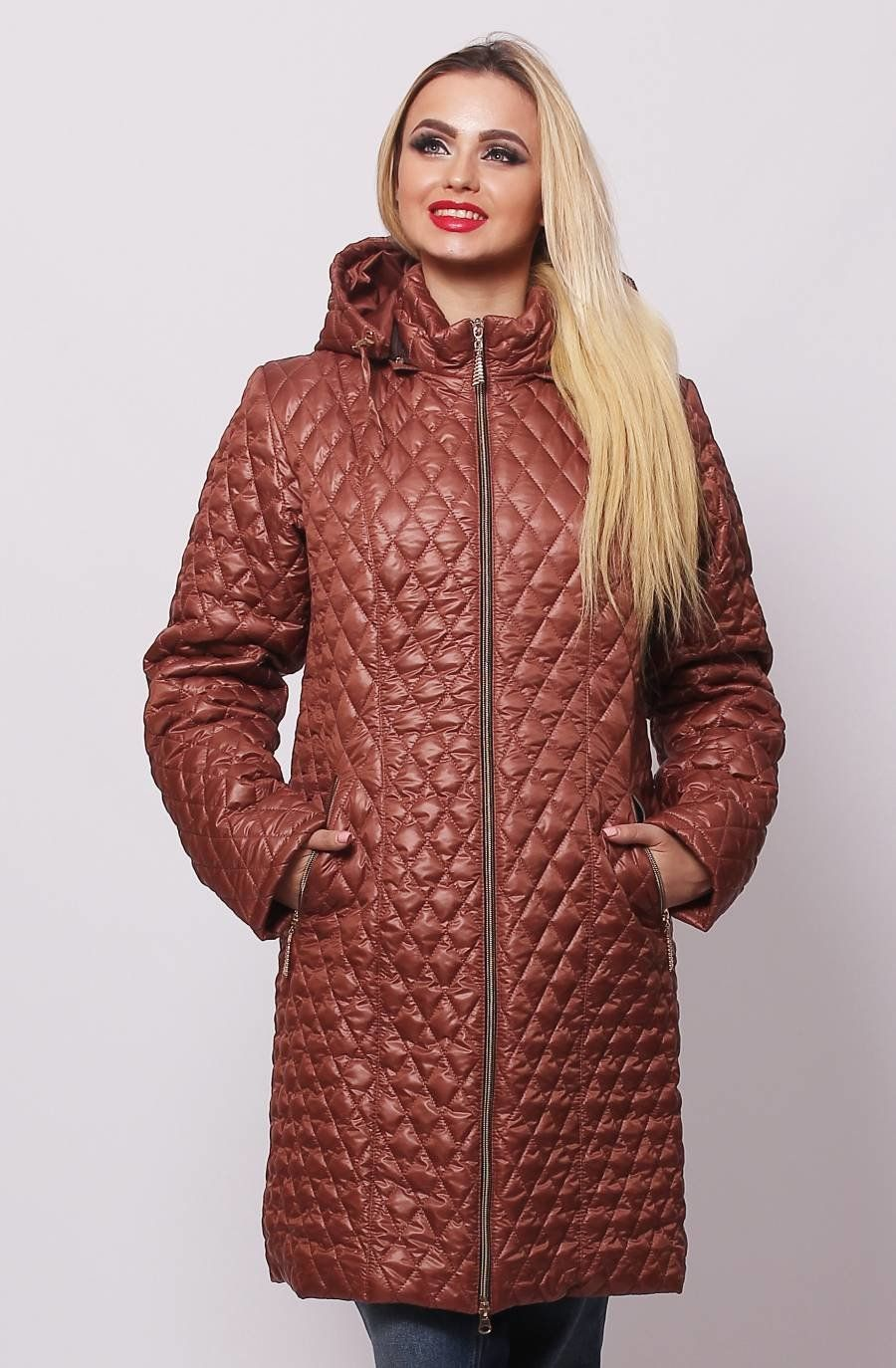 Коричнева куртка Саманта - купити недорого — Donna Bella - MF-КС11-4-40 6c0912ac3891e