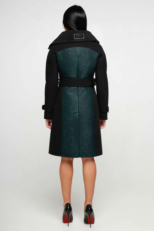 Зелене пальто В-1153 Тон 105 - купити недорого — Donna Bella - F ... b1d3c571c43ef