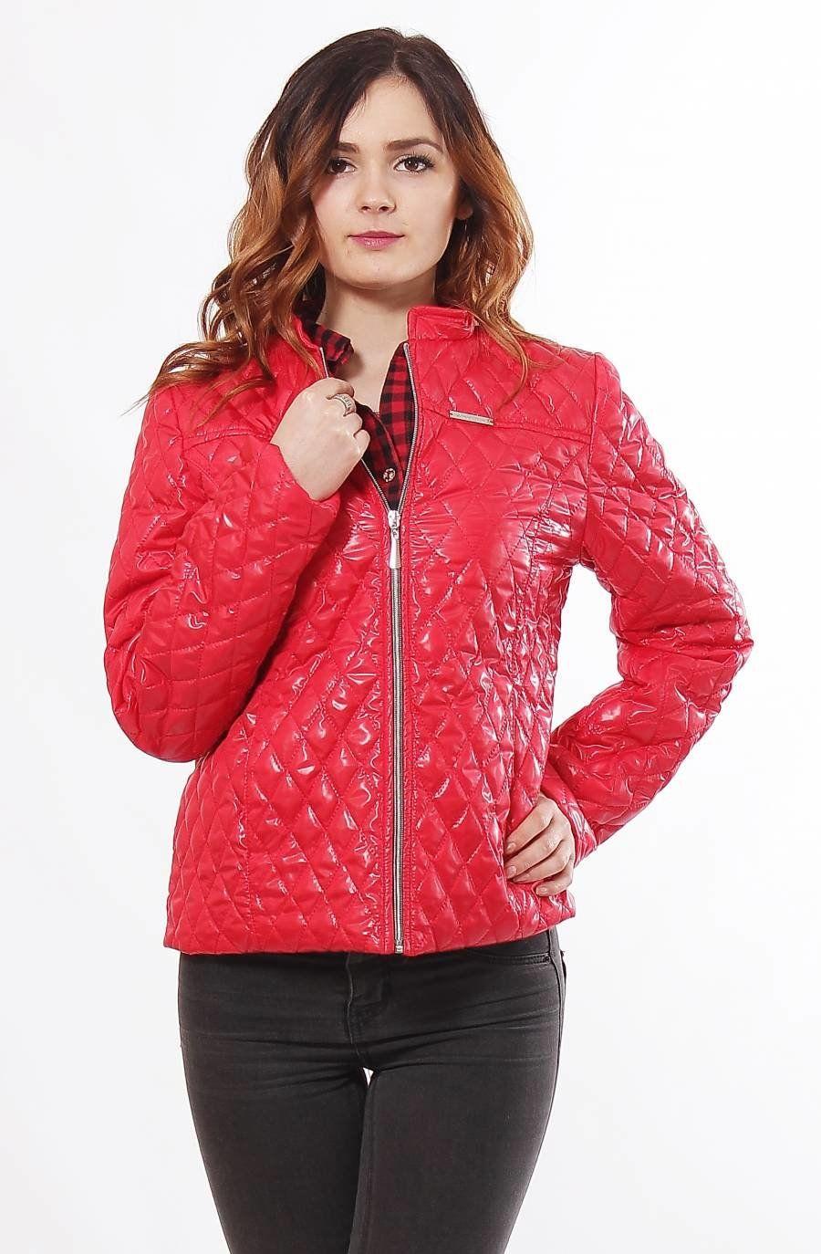Жіноча червона куртка 1-Р - купити недорого — Donna Bella - MF-1Р-4-44 6826d5e9f9c21