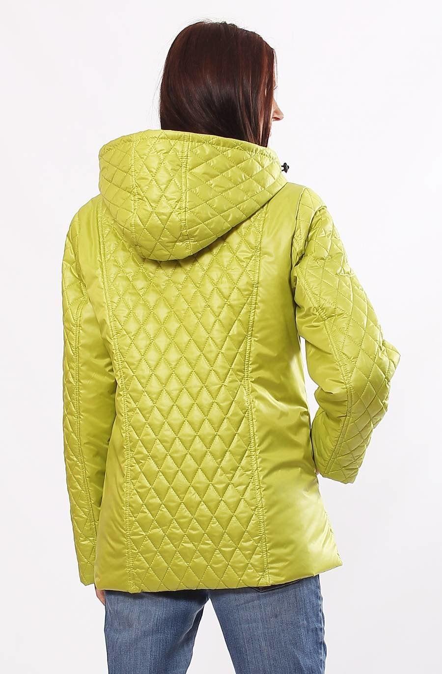 Жіноча демісезонна комбінована куртка Murenna лайм - купити недорого ... 4f020645fe488