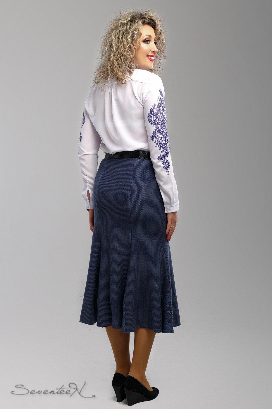 ba2aca28b14 Стильная синяя юбка 1997 - купить недорого — Donna Bella - 1997-52