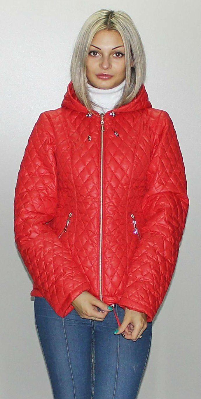 Осіння червона куртка КС-2 - купити недорого — Donna Bella - MF-КС2-1-40 a2139df61fd01