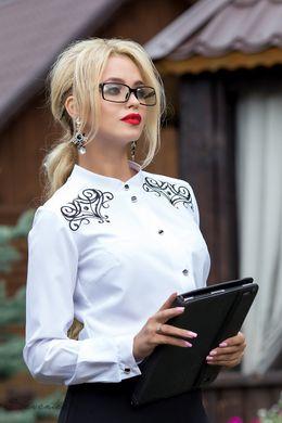 Офісна блуза з вишивкою 1828 - купити недорого — Donna Bella - 1828-44 81c793b3a9aa2