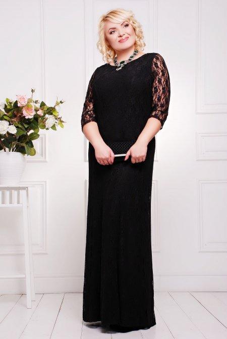 Вечірня чорна сукня Бланка - купити недорого — Donna Bella - Ла ... a7c5c2be6d9cc