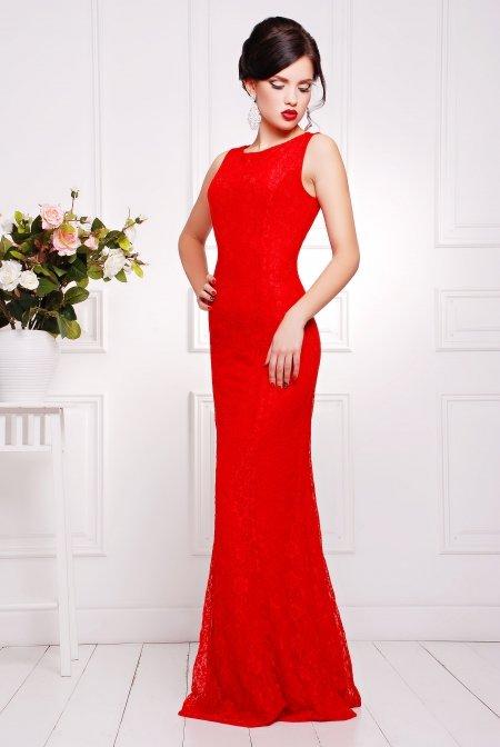 Елегантне жіноче червоне плаття в підлогу Мімоза - купити недорого ... 47b8455b68e9f