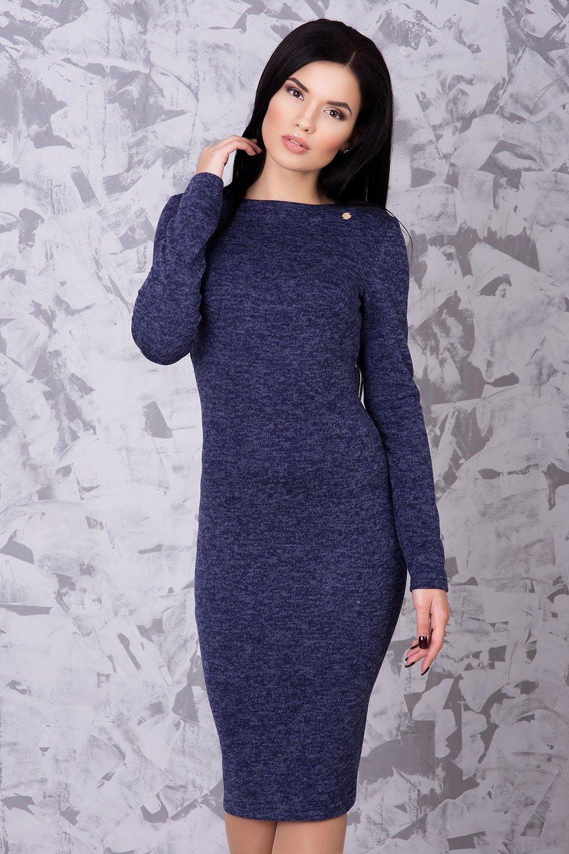 92ae374ab43ef5 Тепла жіноча темно-синя сукня Ангора - купити недорого — Donna Bella ...