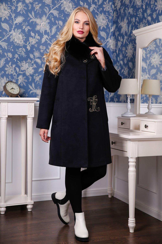 Жіноче зимове чорне пальто П-1051 н м Кашемір Тон 21 - купити ... 89411c14fc27f