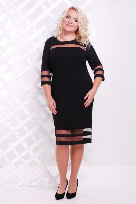 6f4a62807406cd Чорна сукня батал Хіларі - купити недорого — Donna Bella - Le-Хилари ...