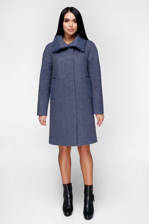 Синьовато-сіре пальто П-1140 Тон 12 - купити недорого — Donna Bella ... 6aa5b096a4d1b