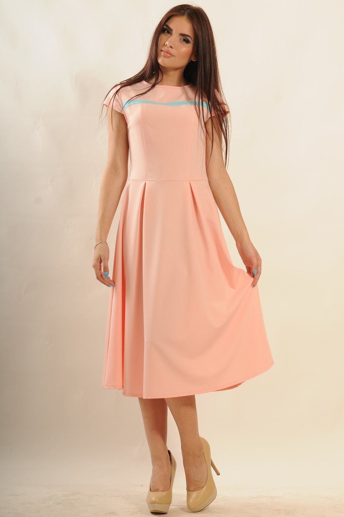 96c03369314c06 Літнє плаття Сільвія пудра - купити недорого — Donna Bella - Ри ...