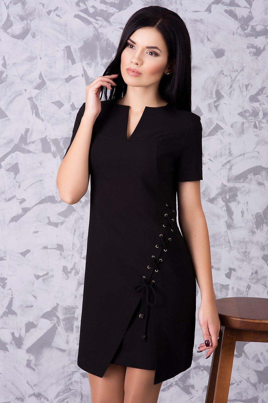 Коротке жіноче чорне плаття Велена - купити недорого — Donna Bella ... fcb38cdc371bb