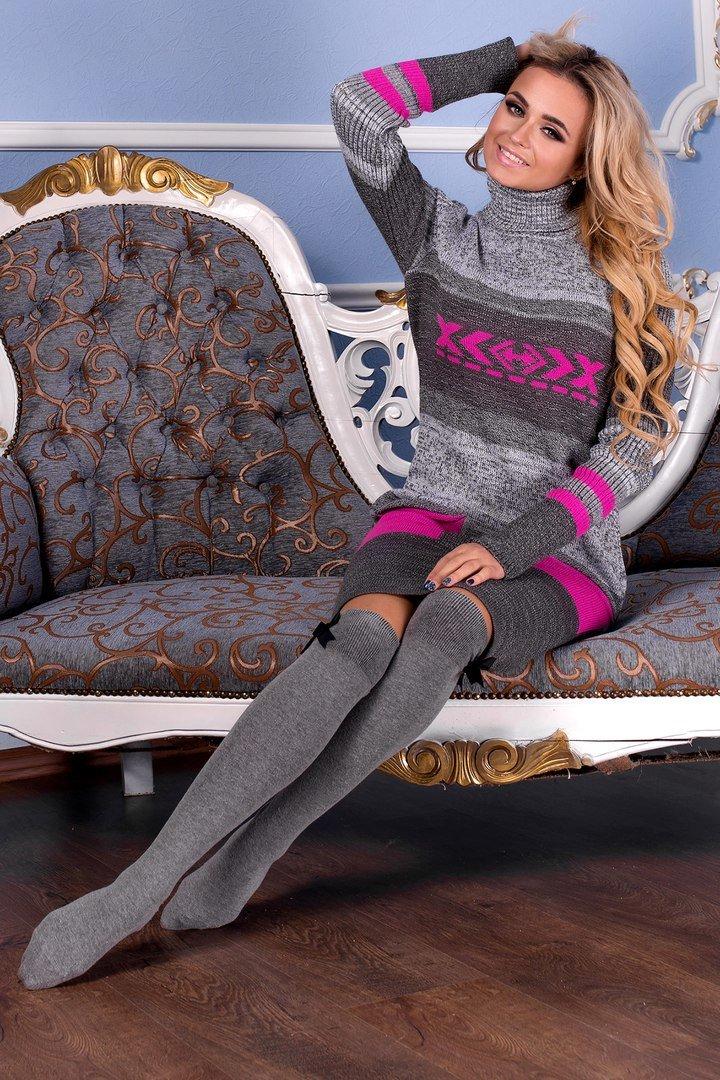 Зимова сіра сукня Муліне - купити недорого — Donna Bella - Мулине-М5 e78c991b7358e