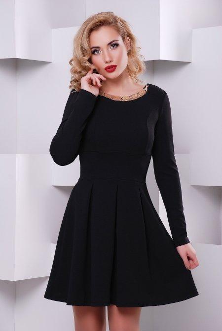 Модне жіноче чорне плаття Кокетка - купити недорого — Donna Bella ... 5666b9c9098a1