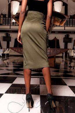 ed3d316f5fc Замшевая юбка-карандаш Дарси хаки - купить недорого — Donna Bella ...