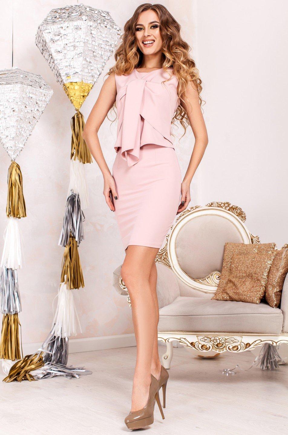 afdeccd3fb4997 Жіночий костюм з спідницею Моренго пудра - купити недорого — Donna ...