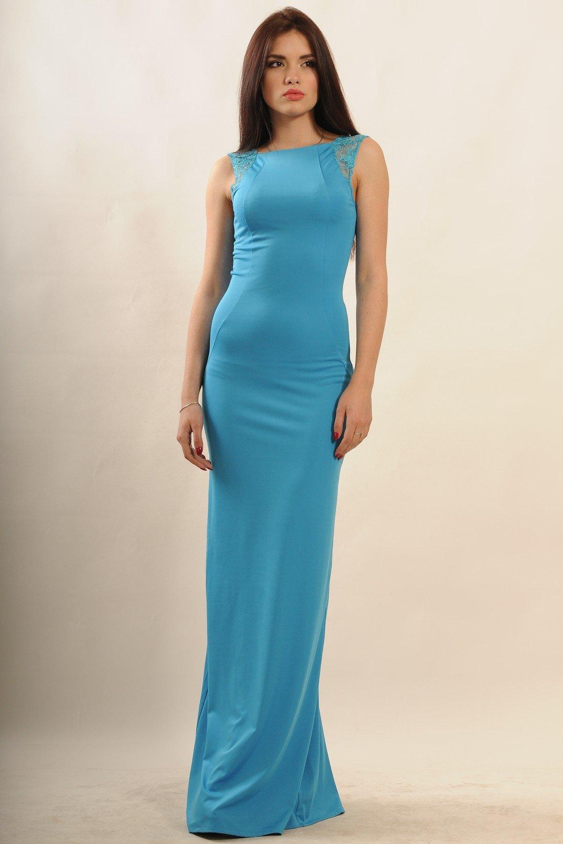 a21d00b0453 Элегантное голубое вечернее платье в пол Венеция - купить недорого ...