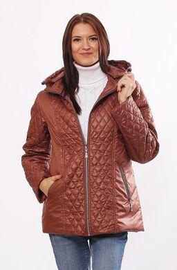 Жіноча коричнева демісезонна комбінована куртка Murenna - купити ... 78cbdd17684af