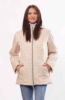 Жіноча бежева демісезонна комбінована куртка Murenna - купити ... b11929a4ab3b4