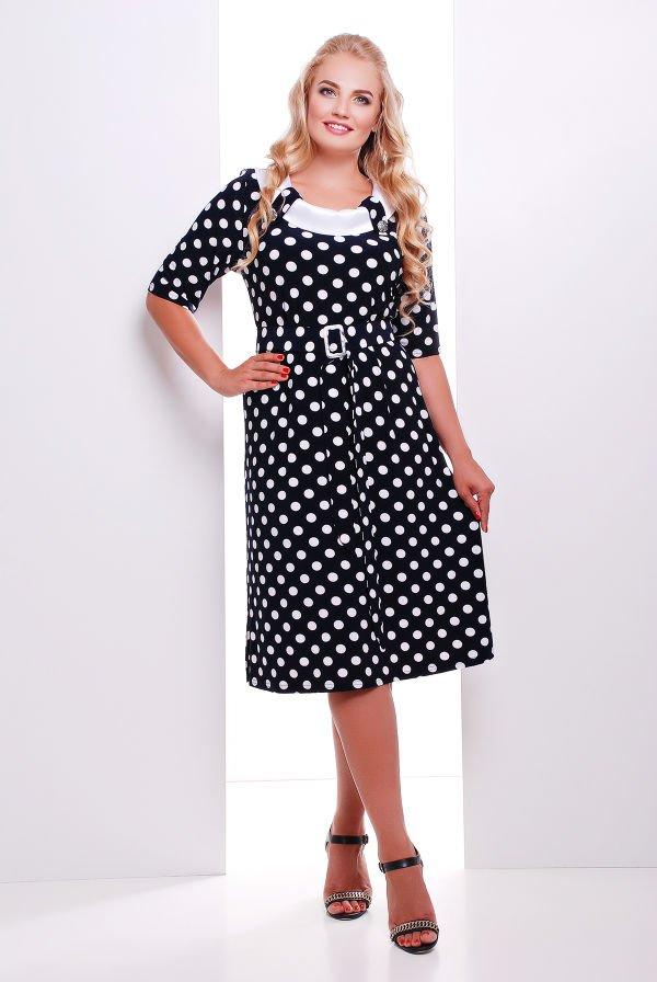 96470255ff04bd Літнє плаття з поясом в горошок Сільвія - купити недорого — Donna ...