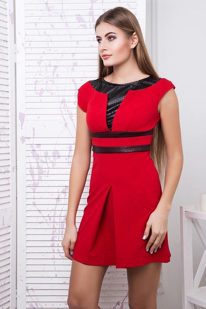 9d10ca24bc6 Молодежное короткое красное платье Тату - купить недорого — Donna ...