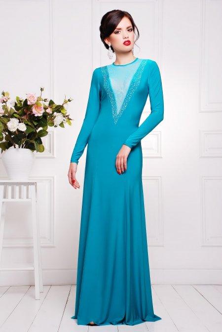 94601233c23 Вечернее бирюзовое платье Аркадия купить недорого