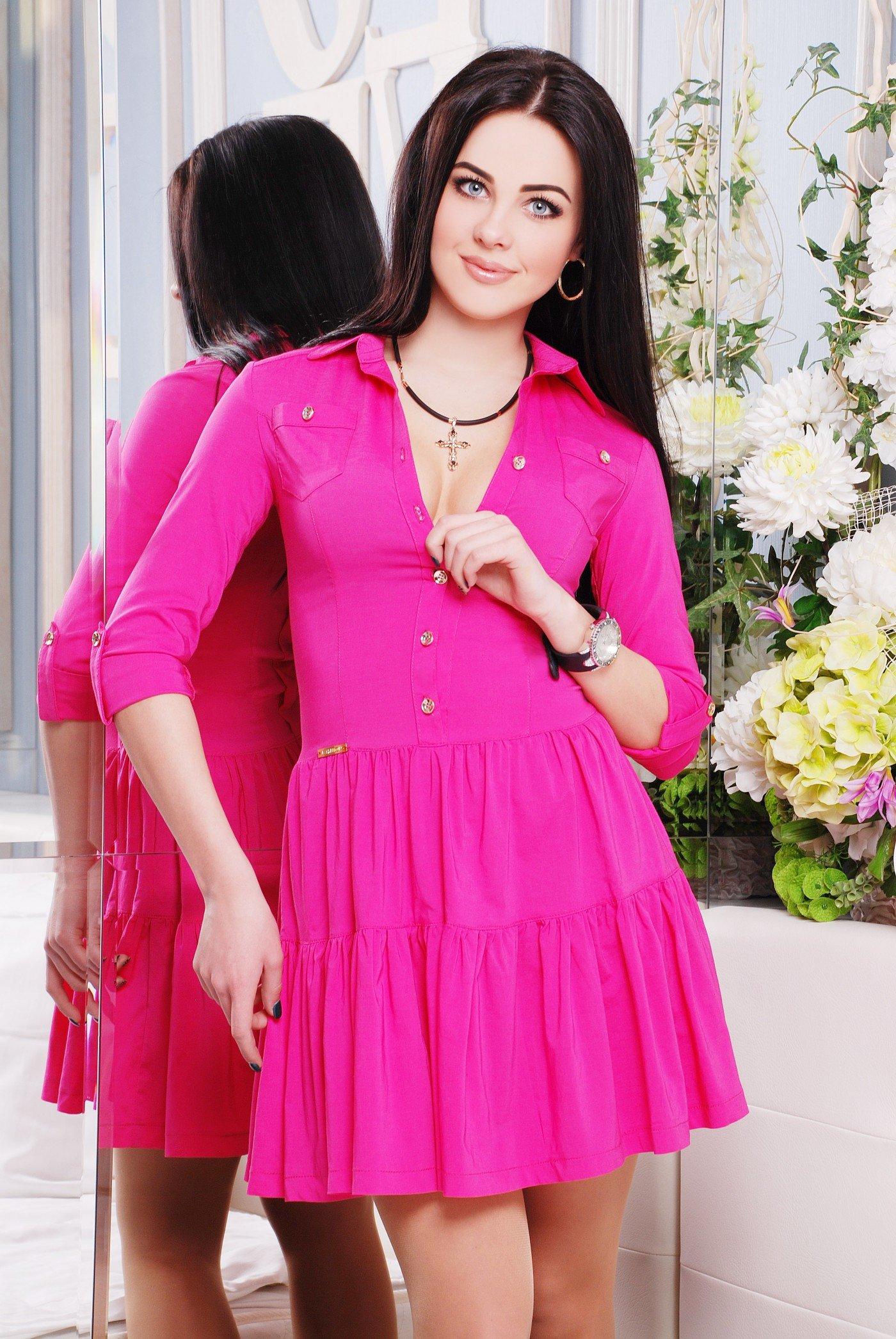 Яскраве жіноче малинове плаття Фешн - купити недорого — Donna Bella ... dfe0e53d8c6ed