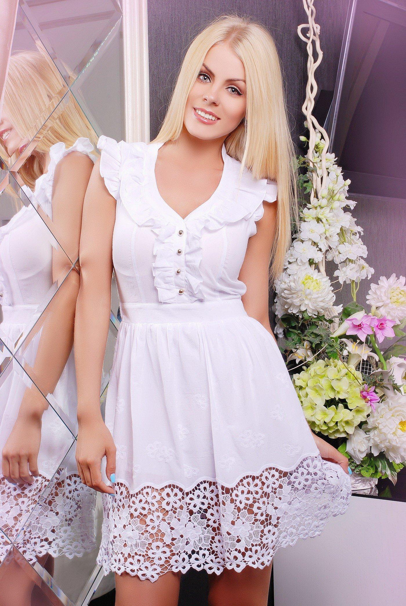 81914a8e96b08e Біле плаття з мереживом Батист - купити недорого — Donna Bella - IR ...
