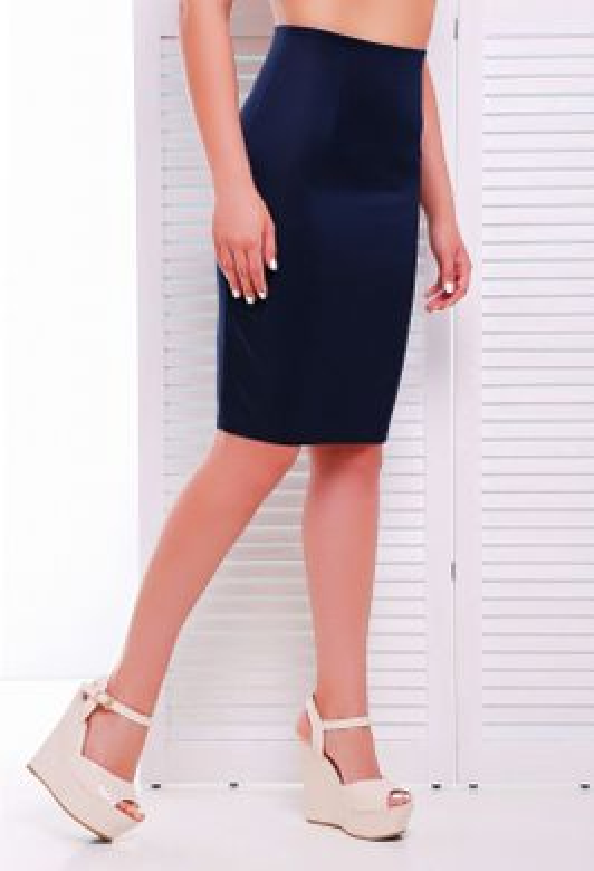 2cf50f7adb1 Офисная темно-синяя юбка Waist - купить недорого — Donna Bella - YB ...