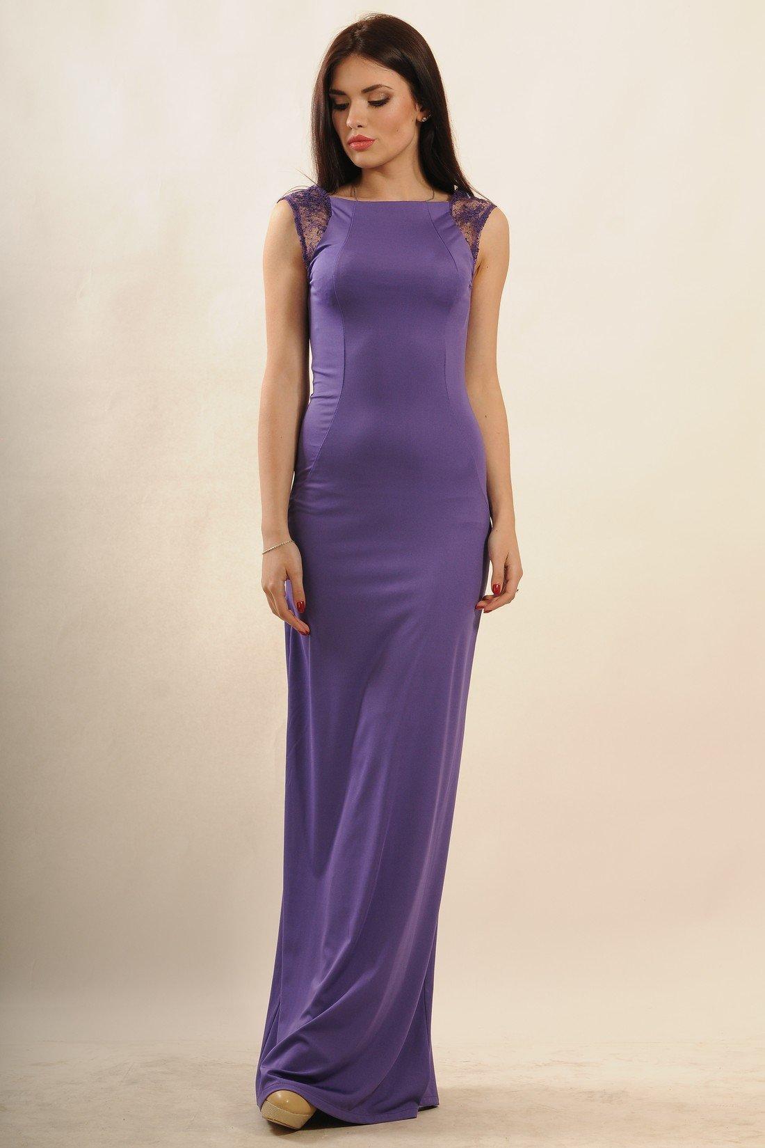 922d55c1cd7 Элегантное фиолетовое вечернее платье в пол Венеция - купить ...