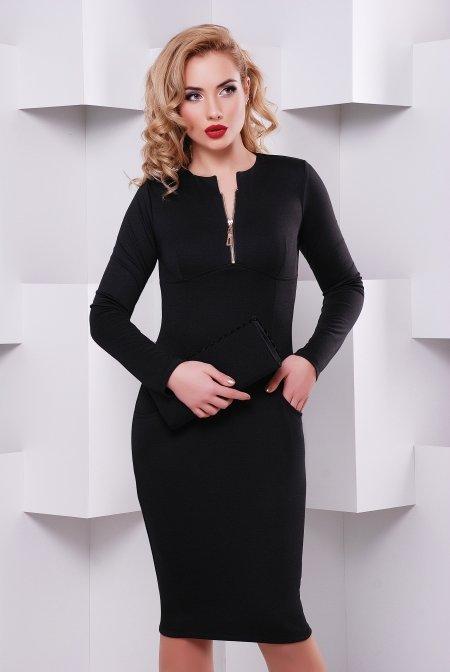 1ae27c035 Чорне трикотажне плаття Жасмин - купити недорого — Donna Bella - Le ...