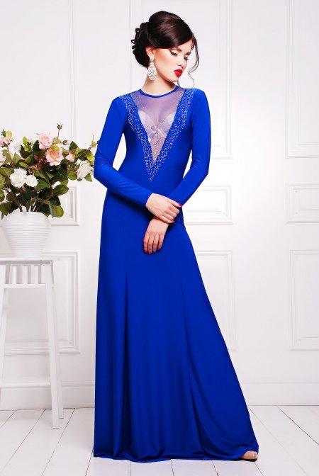2c4dfa44601 Купить красивое вечернее платье цвета электрик Аркадия недорого