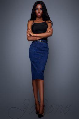 21a5cbdca85 Темно-синяя женская юбка Лакки - купить недорого — Donna Bella ...
