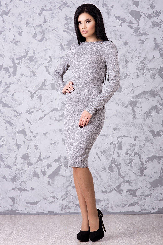 731dc49c138de4 Тепла жіноча сіра сукня Ангора - купити недорого — Donna Bella - IR ...