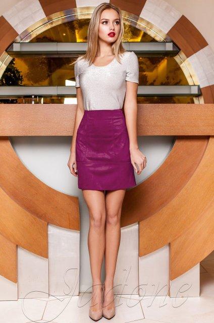 fc3f8873ee8 Замшевая юбка Ирис слива - купить недорого — Donna Bella - J-Ирис-5-42