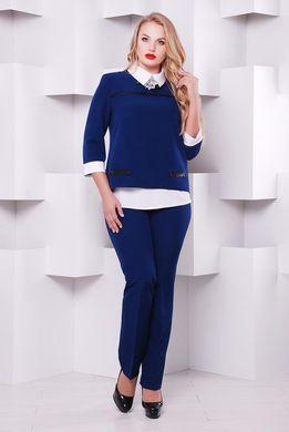Жіночий брючний синій костюм 1130 - купити недорого — Donna Bella ... 132827b44943d