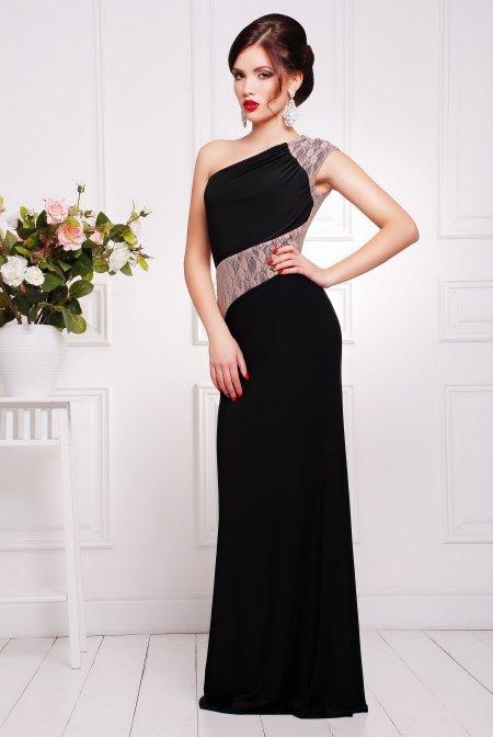 Жіноча чорна вечірня сукня в підлогу Юна - купити недорого — Donna ... c7c9c9c4042a0