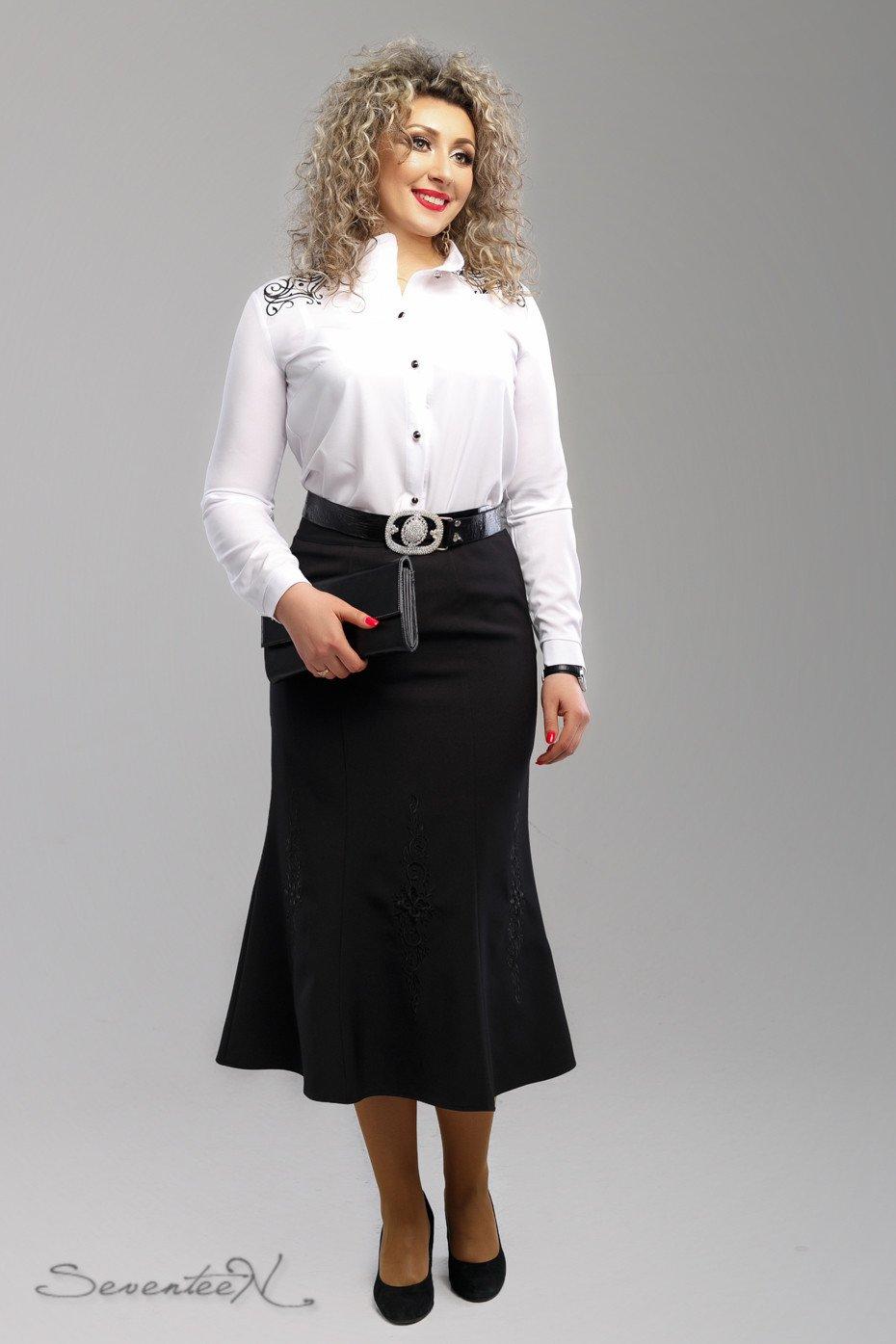 7e55fc88f6b Черная женская юбка с вышивкой 1993 - купить недорого — Donna Bella ...