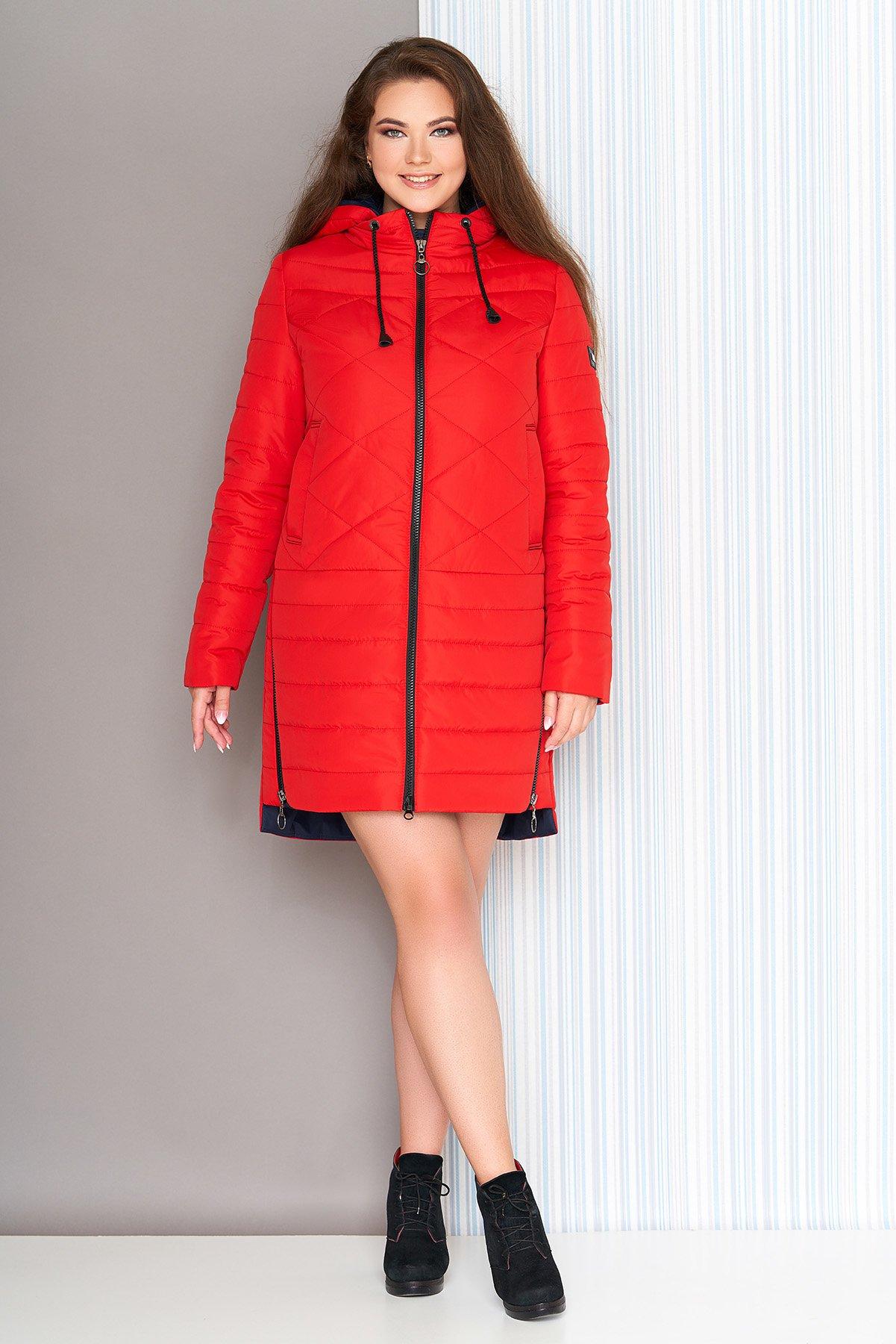 Демісезонна червона куртка Сандра - купити недорого — Donna Bella ... de2e6cb03d886