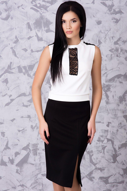 b30e81bebac0c2 Офісний жіночий чорно-білий костюм Доміно - купити недорого — Donna ...