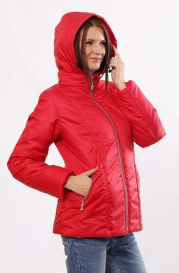 Демісезонна червона куртка Murenna - купити недорого — Donna Bella ... 237b38ddecbdf