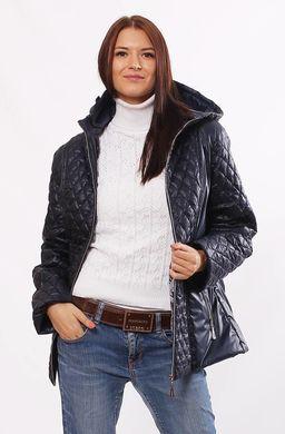 Жіноча темно-синя демісезонна комбінована куртка Murenna - купити ... 7437e4ca419e8