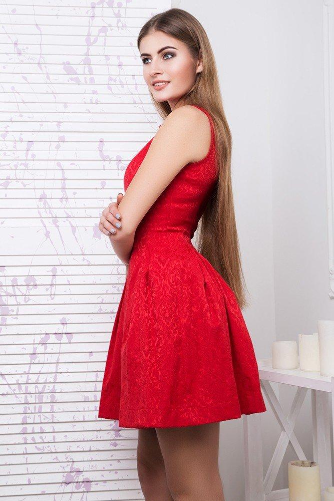 b41555276f3 Молодежное красное платье Кира - купить недорого — Donna Bella - IR ...