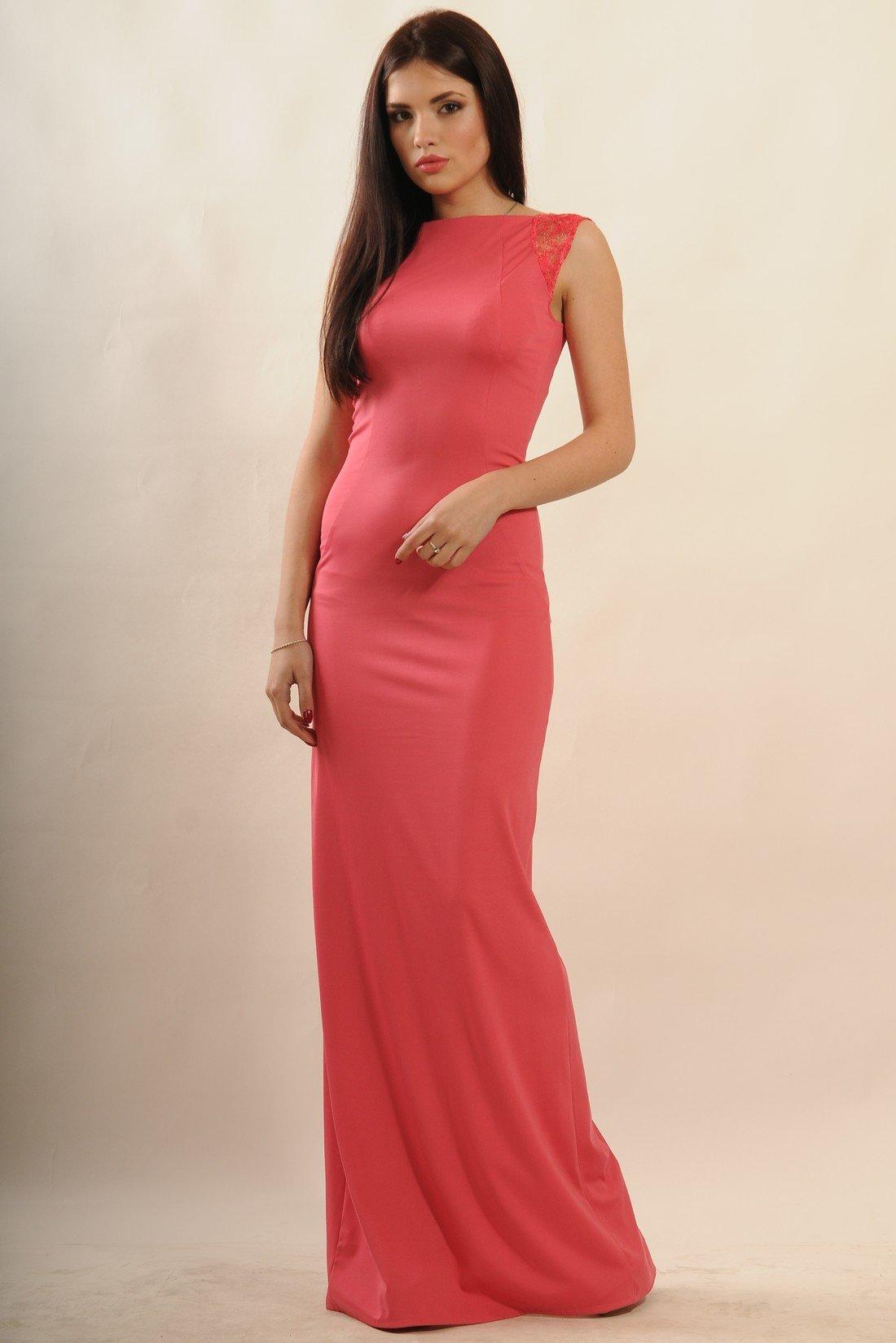 df99e62f136 Коралловое вечернее платье в пол Венеция - купить недорого — Donna ...