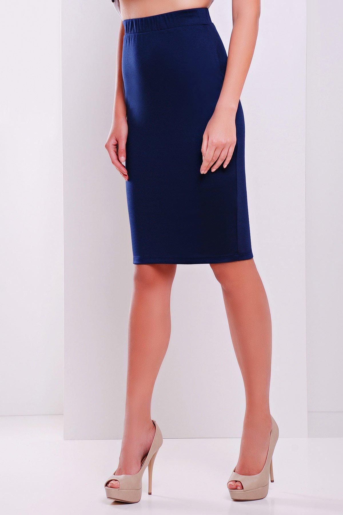 8cae740008a Темно-синяя офисная юбка №20 - купить недорого — Donna Bella - GL ...