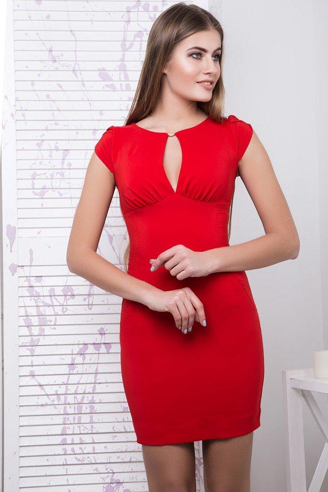 5346f142a5a Короткое женское красное платье Арина - купить недорого — Donna ...