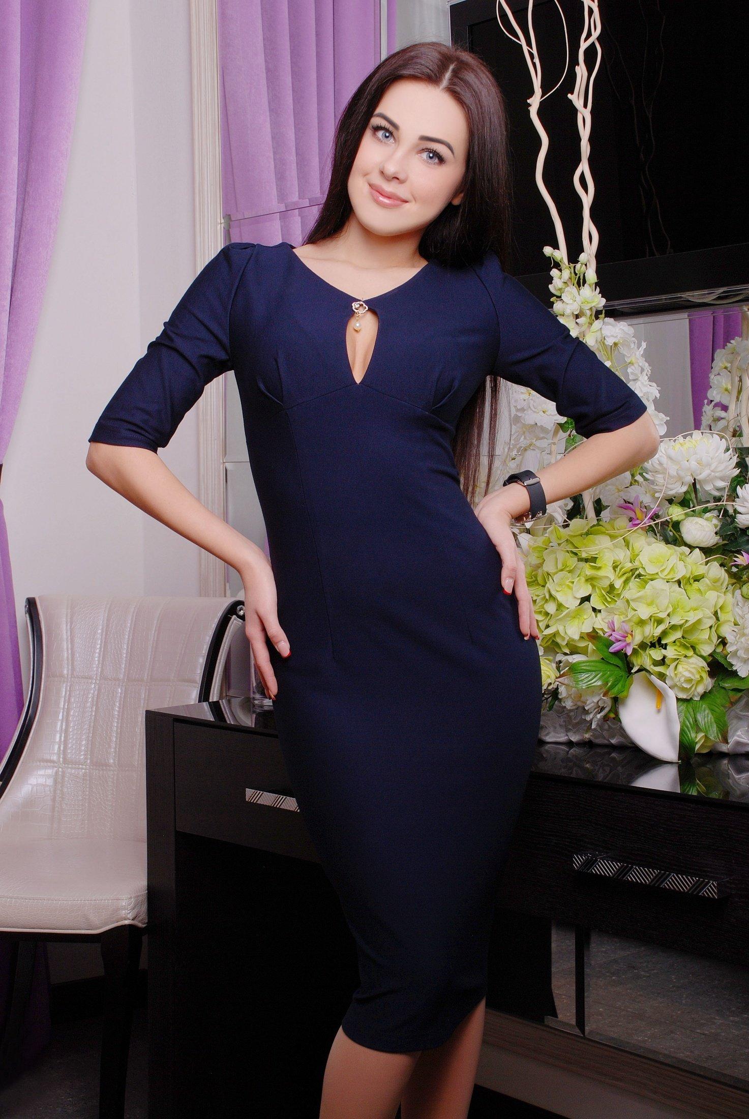 b3601349055 Темно-синє плаття Футляр №2 - купити недорого — Donna Bella - IR ...
